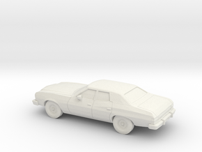 1/87 1974-76 Ford Gran Torino Sedan in White Natural Versatile Plastic