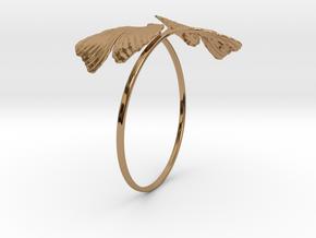 Ginkgo Bracialet in Polished Brass
