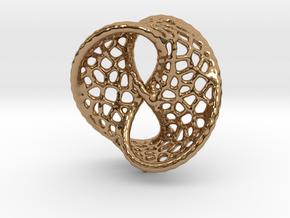 Infinity Pendant (Earrings) in Polished Brass