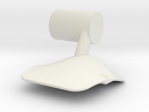 IA-Airfoil-CenterMount in White Natural Versatile Plastic