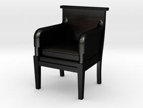 Period Armchair in Matte Black Steel