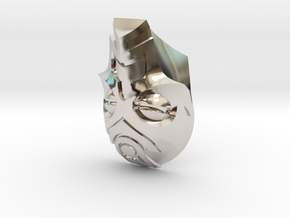 FOD-04-Fantasy Mask MOTU in Rhodium Plated Brass