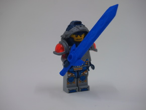 MiniFig NK Claymore Sword Std in Blue Strong & Flexible Polished
