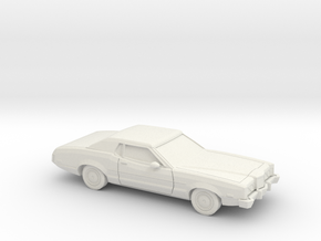 1/87 1972 Mercury Montego MX Coupe in White Natural Versatile Plastic