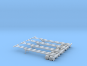 N 40' Container Chassis 4.Pack in Frosted Ultra Detail