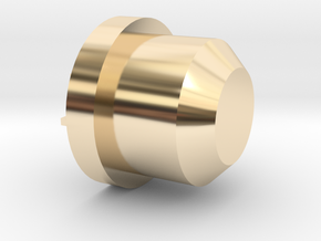 Ducatti Frame Plug With Logo in 14k Gold Plated Brass