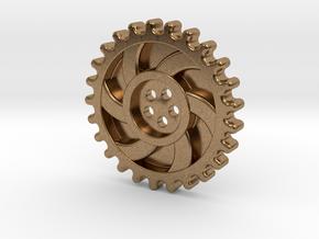 Steampunk Button in Natural Brass
