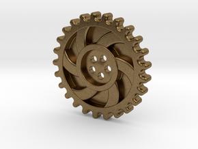 Steampunk Button in Natural Bronze