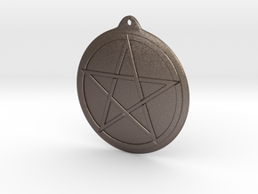 Keychain pentacle in Stainless Steel