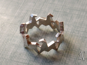 Carousel Origami Horses Ring in Raw Silver: 8 / 56.75