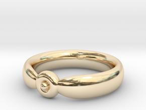 The Circumpunct Sun Ring UK Size V (US Size 10 ¾)  in 14K Yellow Gold