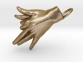 Wolf - Hand Shadows in Polished Gold Steel