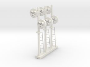 Target Signal Double 3 Light (Qty 3) - HO 87:1 Sca in White Natural Versatile Plastic
