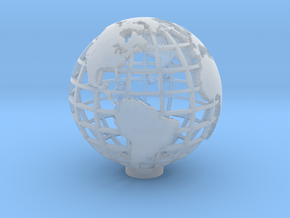 Gridded Globe for Mercator Projection 12cm in Smooth Fine Detail Plastic