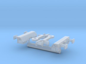 FEA-F Spine Wagon Buffer Beam Set for N Gauge, 1:1 in Smooth Fine Detail Plastic
