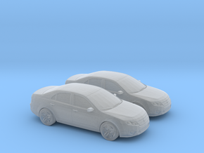 1/120 2X  2010 Ford Fusion SEL in Smooth Fine Detail Plastic