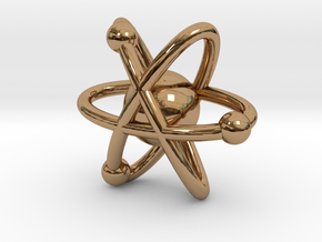 Atom Charm in Polished Brass