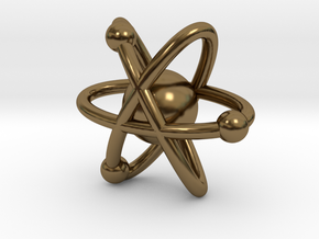 Atom Charm in Polished Bronze