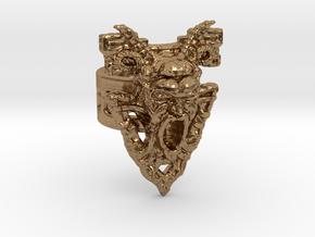 Gargoyle Ring in Natural Brass