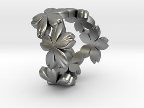 Sakura in Natural Silver