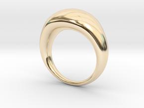 Globe Ring in 14k Gold Plated Brass: 8 / 56.75