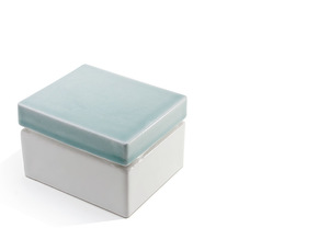 curd dish lid in Gloss Celadon Green Porcelain