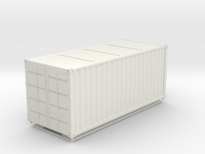 TT Scale Container Standard 20' in White Natural Versatile Plastic