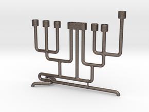 Pipe Menorah in Stainless Steel
