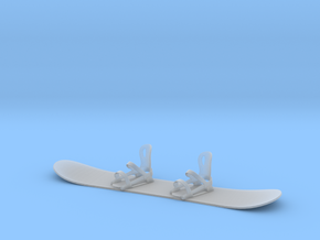 Mini Snowboard in Smooth Fine Detail Plastic
