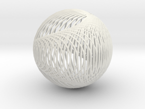 Cardioid sphere 2 in White Natural Versatile Plastic