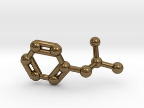 Amphetamine (Adderall, Speed) Molecule Keychain in Natural Bronze