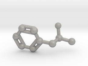 Amphetamine (Adderall, Speed) Molecule Keychain in Aluminum