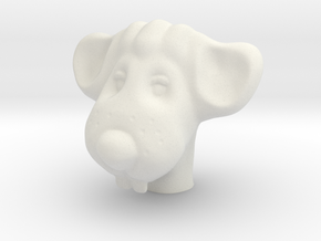 Mouse pendant in White Natural Versatile Plastic