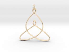 Celtic Mother-Child Bond Knot in 14k Gold Plated Brass