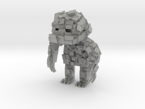 Minecraft Rock Monster in Metallic Plastic