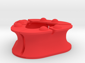 Earbud Holder in Red Processed Versatile Plastic