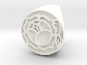 Utena Ring Size 5 in White Processed Versatile Plastic