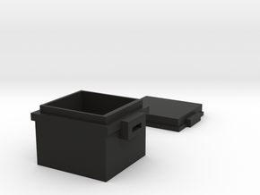 Minecraft Locked Chest in Black Natural Versatile Plastic