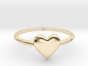 Heart-ring-solid-size-10 in 14K Yellow Gold