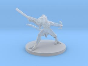 Lizard Warrior - 3D printed miniature in Smooth Fine Detail Plastic