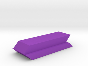 Table Number Blank Digit in Purple Processed Versatile Plastic