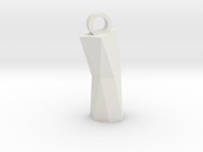 Obelisk2 in White Natural Versatile Plastic