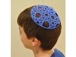 Yarmulke Two in Blue Strong & Flexible Polished