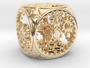 Gears Delirium I - D6 in 14k Gold Plated Brass
