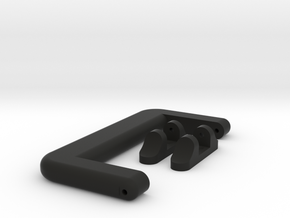 Case Handle with Mounts in Black Natural Versatile Plastic