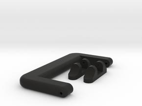 Case Handle with Mounts in Black Natural Versatile Plastic