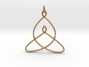 Celtic Mother-Child Bond Knot in Polished Brass