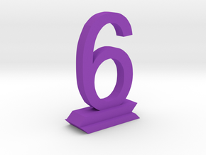 Table Number 6 in Purple Processed Versatile Plastic