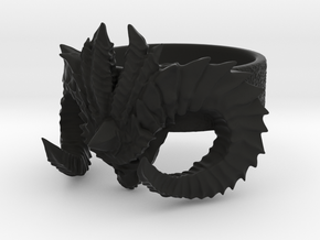 Diablo Ring (Size 3,5) in Black Natural Versatile Plastic