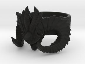 Diablo Ring (Size 3,5) in Black Strong & Flexible